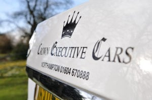 Crown Executive Cars Logo on Car Livery